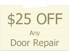 Garage Door Discount on Repair 25$